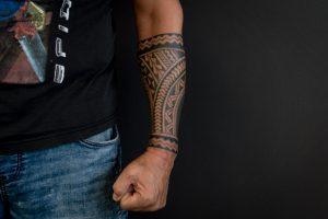 maori tattoo gezet door Bertus
